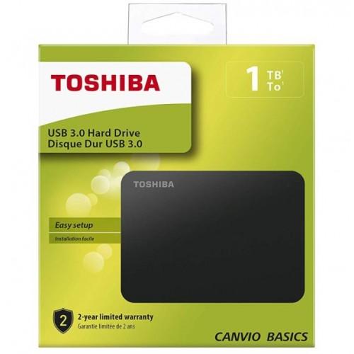 "HDD External 2.5"" 1TB USB 3.0 Toshiba Canvio Basics Matt Black"